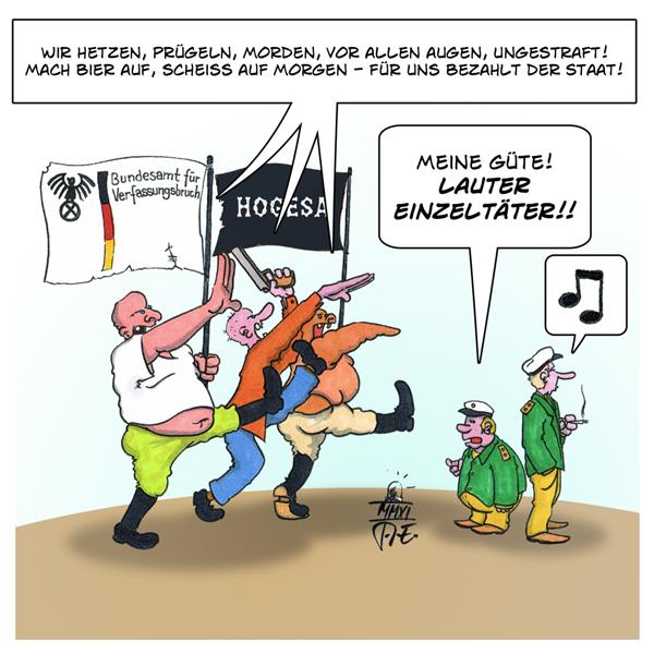 HoGeSa Nazis Attentäter Attentat Rechtsterrorismus Rechtsterror Einzeltäter Einzelgänger
