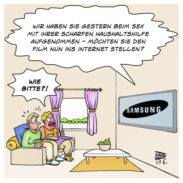 Samsung SmartTV SmartTechnology Wanze Wohnzimmer Alexa Siri Amazon