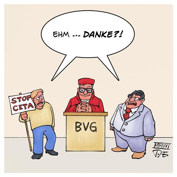 CETA Urteil BVG Voßkuhle Sigmar Gabriel