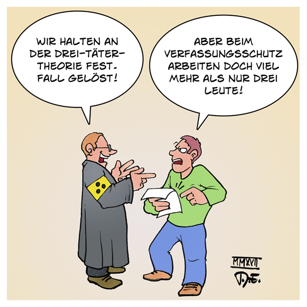 NSU Staatsanwalt 3 Täter Zschäpe Mundlos Böhnhardt Verfassungsschutz BfV