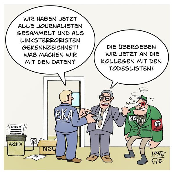 G20 Journalisten Polizei Terrorliste Linksextremismus linksunten Rechtsextremismus Mecklenburg-Vorpommern Todesliste AfD Politiker Polizist