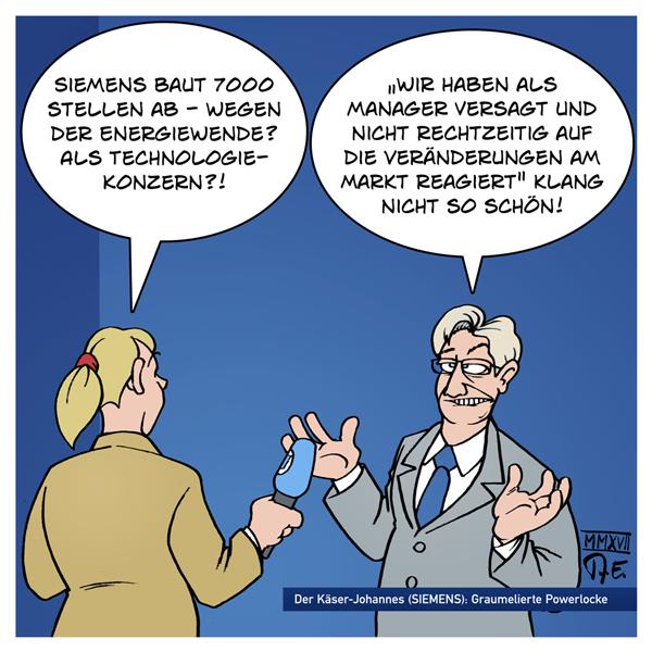 Siemens Joe Kaeser Johannes Käser Arbeitsplätze Stellenabbau 7000 Energiewende Turbinen Technologiekonzern Zukunftstechnologie Deutschland