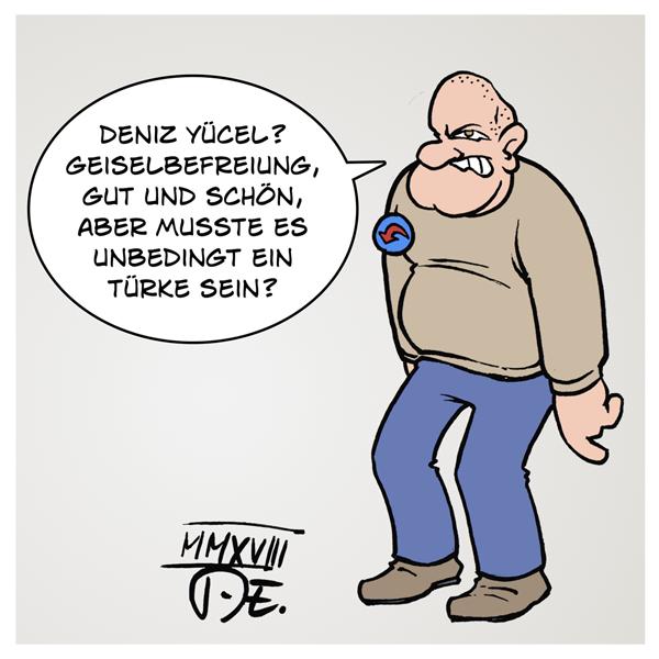 Deniz Yücel AfD Pegida Twitter Facebook Türkei Deutschland Werte Rechtsstaat Fremdenfeindlichkeit Geiselnahme Geiselhaft Befreiung Freilassung Journalismus