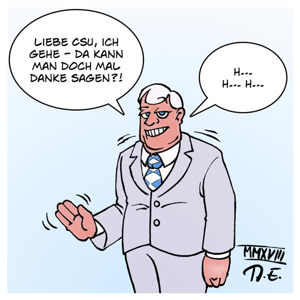 Horst Seehofer Ministerpräsident Bayern CSU Berlin Heimatministerium dankbar danke Dankbarkeit Abschied