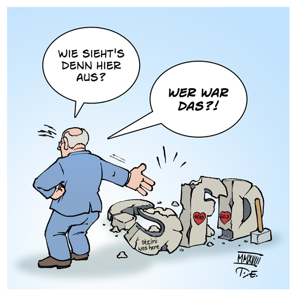 Peer Steinbrück SPD Honorare Neoliberalismus SPD Kritik Partei Stinkefinger Verursacher