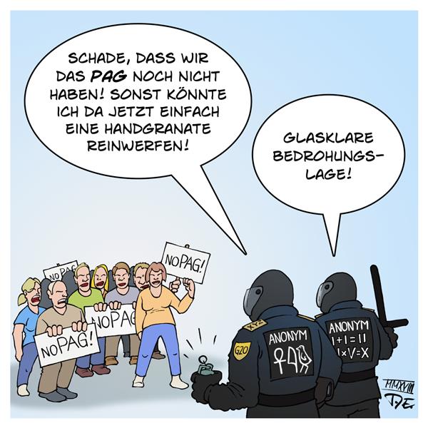 PAG #noPAG Polizeiaufgabengesetz Bayern Sachsen Deutschland Bundesländer Polizei Handgranate Bedrohung Demo Demos Demonstration BFE BFE+ G20 Polizeigewalt Identifikation Täter Kennzeichnungspflicht Vermummungsverbot