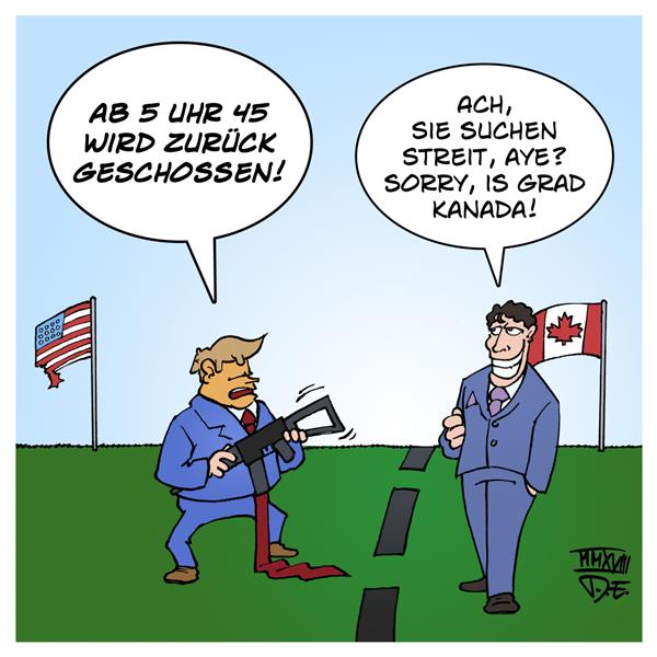 Trump Trudeau G7 Gipfel G6 Dolchstoß Kanada USA Krieg Weißes Haus
