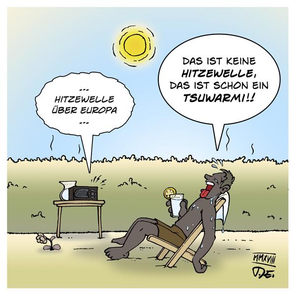 Hitze Hitzewelle Europa Nordeuropa Deuschland Sonne Sommer Wetter zu warm Tsuwarmi Zuwarmi