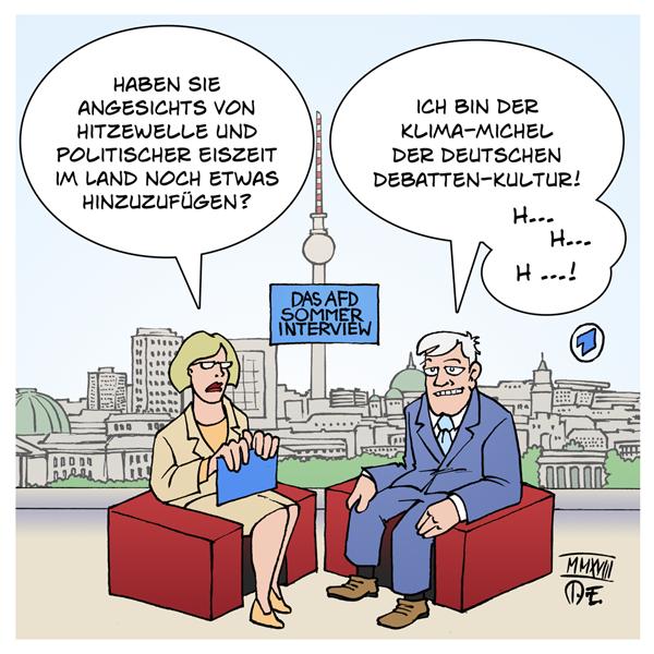 Horst Seehofer ARD Sommerinterview CSU AfD Rechtsruck Sommer Interview Hitze Hitzewelle Klima-Michel-Modell