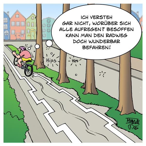 Radweg Berlin besoffen Jan Ullrich Til Schweiger Fahrrad Fahrradweg Markierung Streit öffentlich Promis RTL PR Sommerloch
