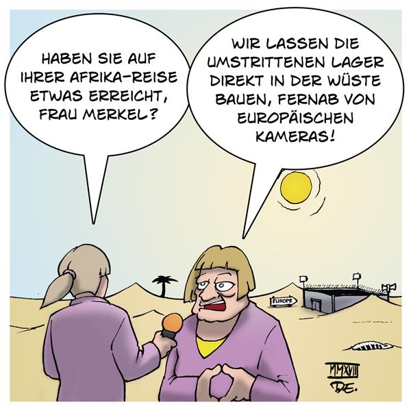 Angela Merkel Afrika Auffanglager Lager Wüste Rechlosigkeit Vergewaltigungen Menschenrechte Europa Aufmerksamkeit Presse Westafrika Senegal Nigeria Angola Ghana