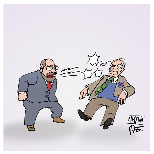 Martin Schulz SPD Alexander Gauland AfD Bundestag Haushaltsdebatte Generaldebatte Aufstehen Parteien Ohrfeige Rechte Nazis rechte Gewalt rechter Terror Chemnitz