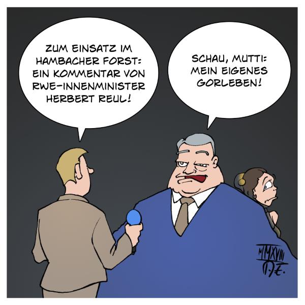 Herbert Reul RWE NRW Hambacher Forst Wald Hambibleibt HambacherForst HambacherWald Polizei Innenminister Innenministerium
