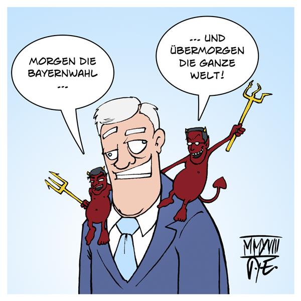 Angela Merkel Volker Kauder Horst Seehofer Markus Söder Hans Georg Maaßen CDU CSU AfD Bundestag Bayernwahl