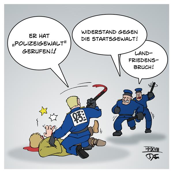 Polizei Polizeigewalt Polizeieinsätze Rechtsstaat Strafrecht Gericht Staatsanwaltschaft gefährliche Körperverletzung Gewaltmonopol Kennzeichnungspflicht