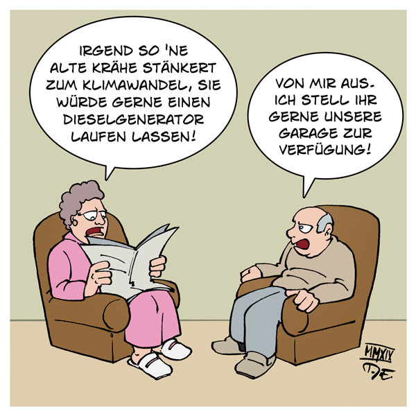 AfD Beatrix von Storch Twitter Dieselgenerator Klimawandel CO2 NOx Garage Abgase