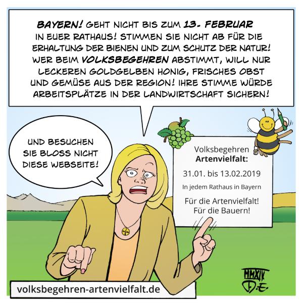 Volksbegehren Artenvielfalt Volksbegehren-Artenvielfalt.de Umwelt Umweltschutz Landwirtschaft Bienen Insekten Artenschutz Vögel Honig Obst Gemüse landwirtschaftliche Produkte Bestäubung Landwirte Bauern Julia Klöckner Bayern CSU