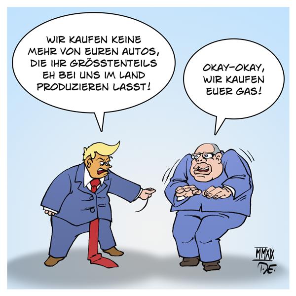 Donald Trump Peter Altmaier Autoindustrie Deutschland Strafzölle USA Gas Natural Gas LNG Wirtschaftskrieg Mauer MAGA