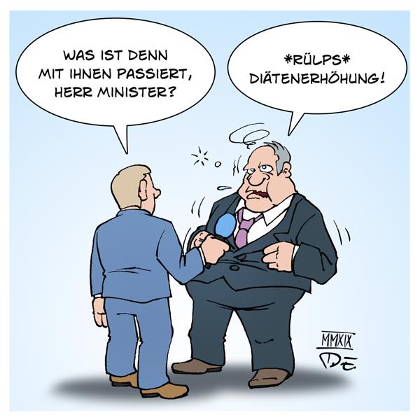 Politiker Einkommen Diäten Erhöhung Diätenerhöhung Steuern Steuergelder Abgeordnete Bundestag Deutschland