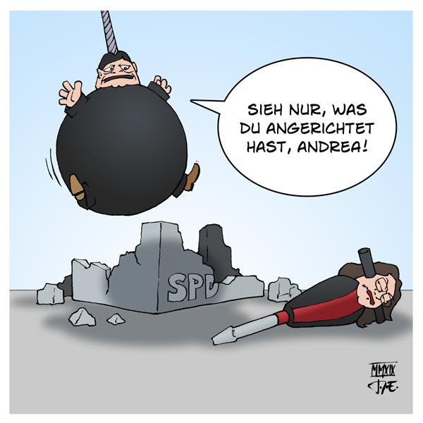 SPD Europawahl Andrea Nahles Sigmar Gabriel HartzIV Waffenexporte Klimaschutz Klimawandel Klimawahl Partei Erneuerung