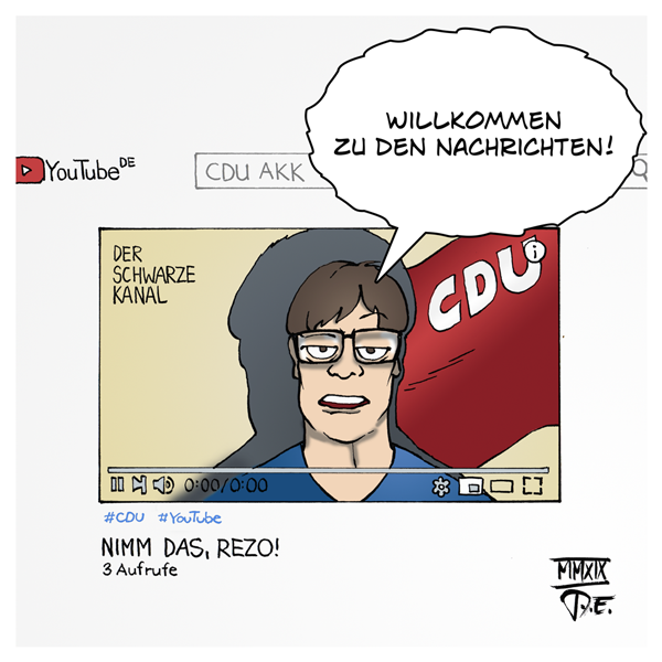 CDU Youtube Rezo Der Schwarze Kanal Social Media Video PR Public Relations Staatsfernsehen AKK Annegret Kramp-Karrenbauer