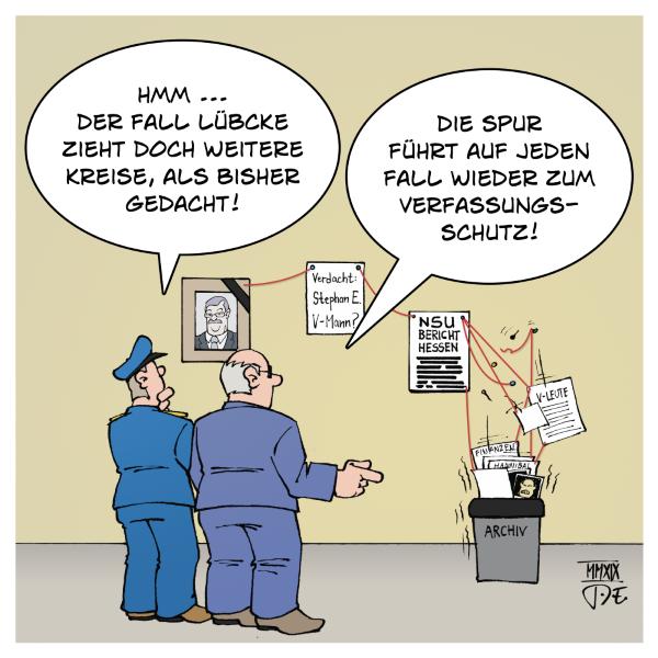 Lübcke Verfassungsschutz rechtes Netzwerk Polizei Combat18 NSU NPD AfD PEGIDA CDU Rechtsruck rechter Terror Rechtsextremismus Kriminalität Mord
