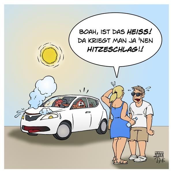 Sommer Sonne Hitze Hitzestau Auto Pkw Kinder Baby Kleinkind Hunde Hund Temperatur Schatten Fenster Luft Zirkulation Abkühlung