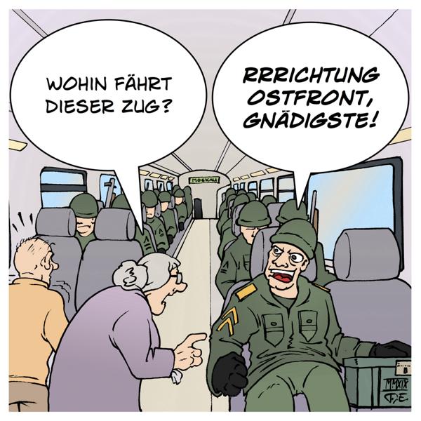 Deutsche Bahn Bundeswehr Gratisfahrten Annegret Kramp-Karrenbauer Geschichte Reichsbahn Truppentransport Ostfront