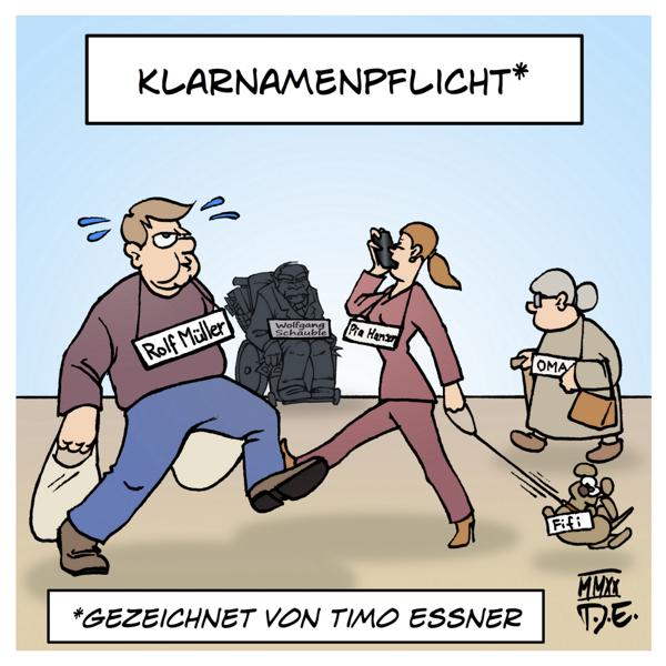 Klarnamenpflicht Wolfgang Schäuble Internet Hatespeech Online Offline Alltag Anonymität Trolle Hass Öffentlichkeit Namensschilder Kennzeichnungspflicht