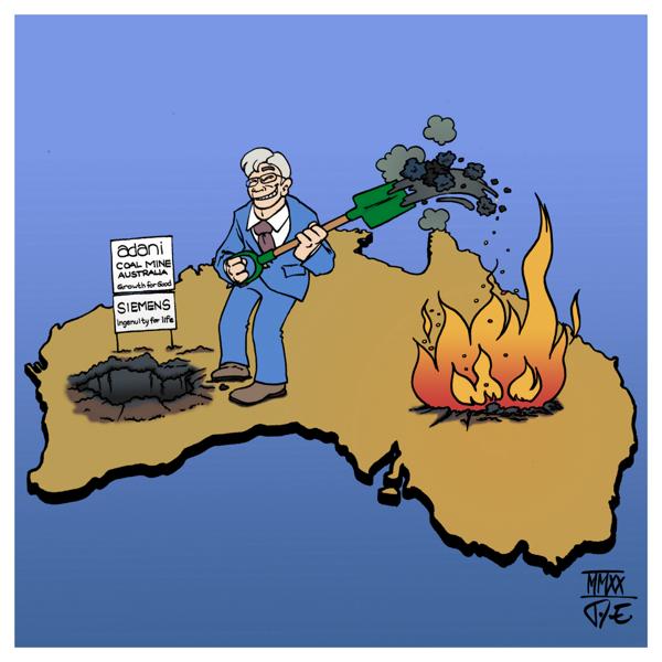 Australien Waldbrände Klimakatastrophe Umweltkatastrophe Siemens Adani Kohlemine Kohle Kohlekraft Kohleausstieg Klimaziele CO2-Ausstoß Energiewende Verkehrswende #SiemensFuelsFires