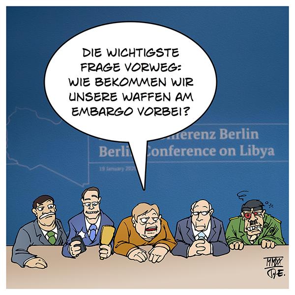 Libyen Konferenz Berlin Libyen Frieden Waffenstillstand Waffenembargo Waffenexporte Soldaten Einsatz UNO Deutschland Frankreich Russland Türkei Naher Osten Krieg