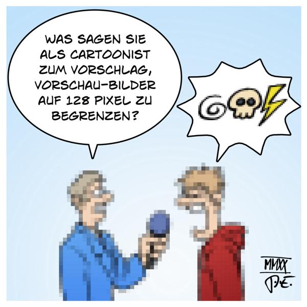 CDU EU Leistungsschutzrecht Urheberrecht Axel Voss Lambrecht NieMehrCDU PixelnWieLambrecht Kunst Kultur Nutzung Vergütung Verpixelung 128 Pixel