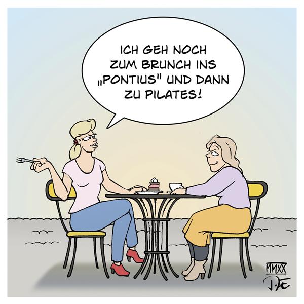 Vom Pontius zu Pilates Pilatus Hipster Wohlstand Gesellschaft Freizeit Lifestyle Wortspiele City modern mondän Luxus