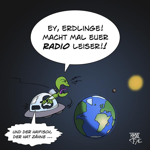 Alien UFO Radio Erde Außerirdische Ausserirdische Radiowellen Universum Exoplaneten War of the Worlds Pentagon NASA Extraterrestische Lebensformen