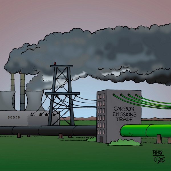 Greenwashing CO2 Emissionen Steuer Wirtschaft Energie Energieproduktion Carbon Emissions Tax Carbon Trade business economy energy production consumption