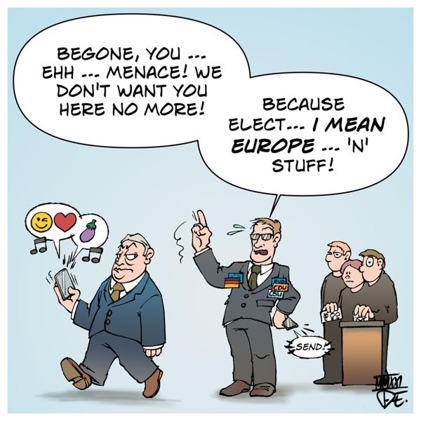 EU Parlament Parliament Fidesz EVP CDU CSU Hungary Ungarn Germany Deutschland konservative Parteien conservatives parties election Zusammenschluss Rechtsruck Europa Europe Wahlen Bundestagswahl Landtagswahl