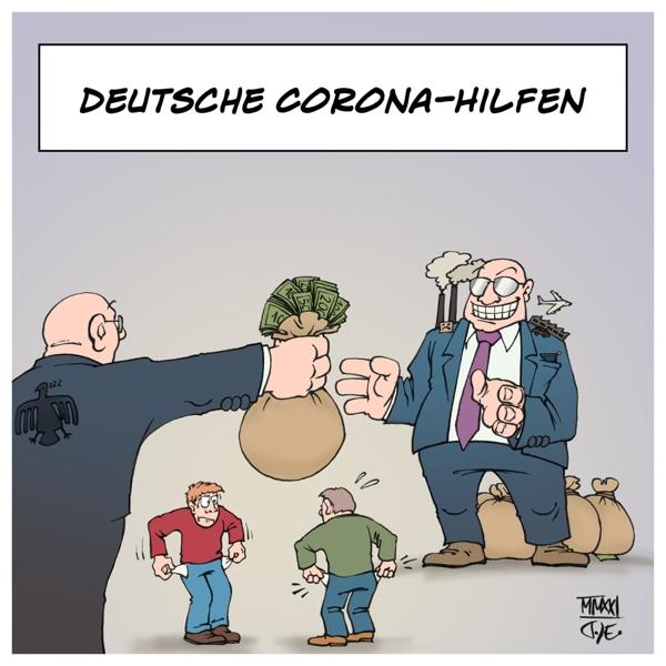 Deutschland Corona Wirtschaftshilfen Novemberhilfe Dezemberhilfe Neustarthilfe MIttelstand Lufthansa TUI Daimler VW Wirtschaftsministerium Bundesländer Betrug Korruption Maskendeals Einstellung Hilfen