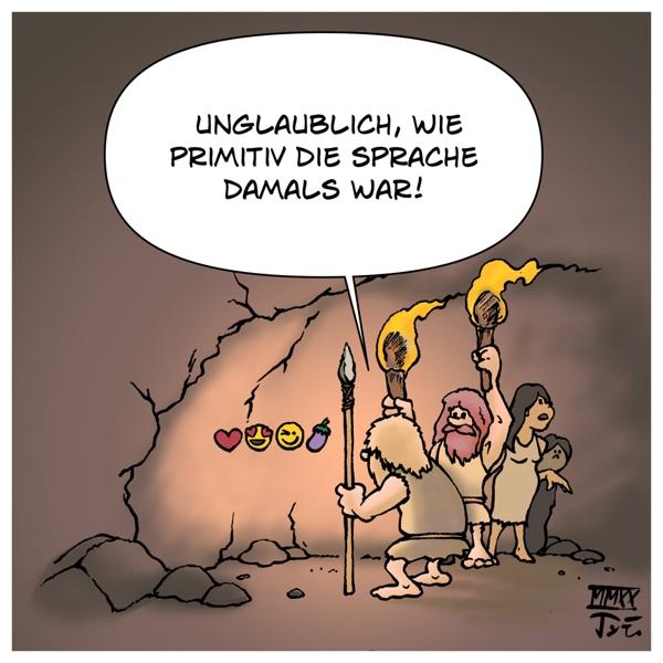 Sprache Kultur Kommunikation Entwicklung Menschen Menschheit Höhlenmenschen Steinzeit Hieroglyphen Höhlenmalerei Evolution Emojis Icons